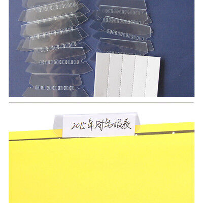 Suspension Hanging Clear Plastic Filing Folder File Tabs Inserts