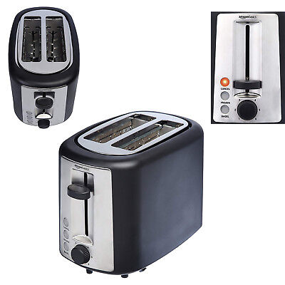 2 Slice Toaster Extra-Wide Slots w/ Crumb Tray 6 Shade Settings Defrost Bread