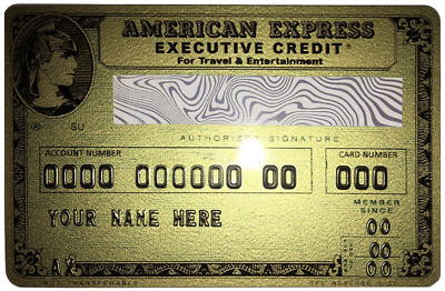New Replica vintage 1969 American Express Executive Credit Card Customizable