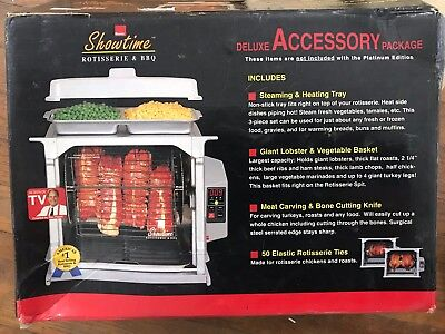 Ronco™ Showtime™ Platinum Deluxe Accessory Package Rotisserie BBQ Oven Box