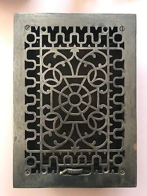 Antique Cast Iron Decorative Heat Grate Floor Register 8X12 Vintage