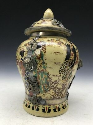 Chinese ceramic handmade painting outsourcing Tibetan silver can