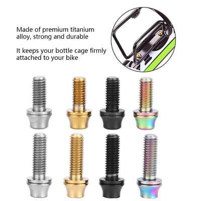 Bicycle Screw Stem Bolt With Spacer Titanium M5x19mm Steering Handlebar Parts