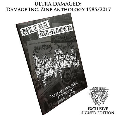 ULTRA DAMAGED: DAMAGE INC ZINE ANTHOLOGY *signed by author Maniac, ex-Mayhem*