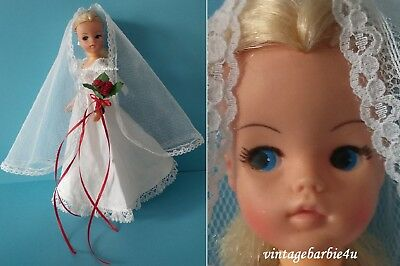 Vintage Pedigree Bride Sindy Doll Blonde 1984 Wedding Bells Tagged Hong Kong