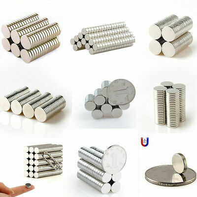 1-100x Super Strong N50 Magnet Rare Earth Round Disc Cylinder Permanent Magnet