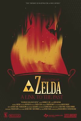 The Legend Of Zelda A link to the Past Art Silk Poster 8x12 24x36 24x43