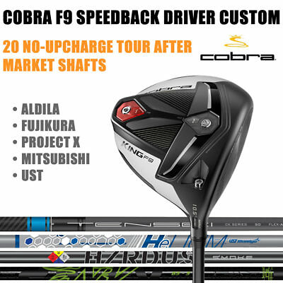 New Cobra King F9 Speedback Driver 30+ Custom Shafts - Pick A Loft Shaft & Flex