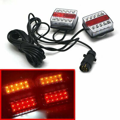 Pre Wired Magnetic Trailer Van Rear Towing Light Board Lights Lamps 7.5M Cable