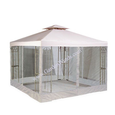 OPEN BOX Universal 10' x 10' Two-Tiered Replacement Gazebo Canopy and Netting -