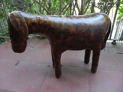 Vintage Omersa Liberty's Abercrombie Leather Donkey Footstool Lovely Condition