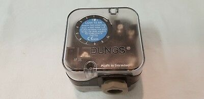 Dungs LGW-10-A4 Differential Air Pressure Switch 250VAC 50-60Hz 10A 500mbar New
