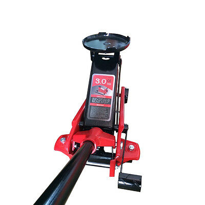 GEEG 3 Ton Heavy Duty Low Profile Floor Jack Rapid Pump Show Car Lowrider Lift