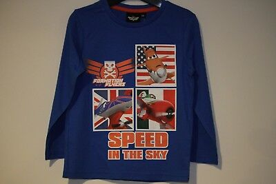 """Disney Planes /""""Speed in the sky/"""" boys Blue Longsleeve Brand New With Tags"""