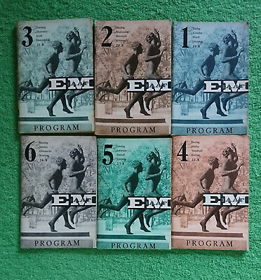 1958 Athletics European Championships Stockholm. Full Program - All 6 volumes