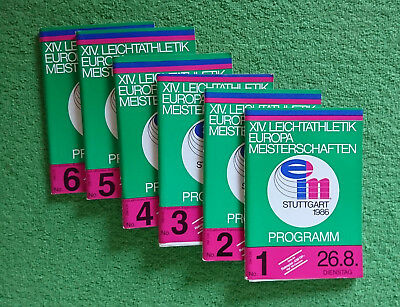 1986 Athletics European Championship STUTTGART Full Program - All 6 volumes