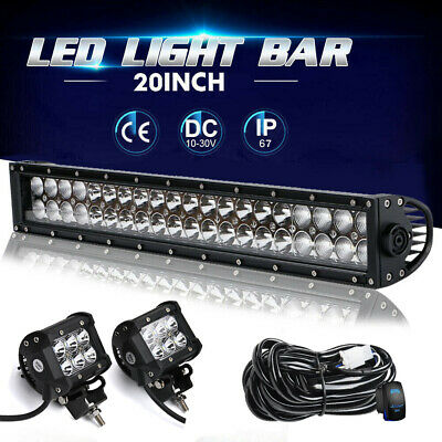 20INCH 120W CREE Led Light Bar Flood Spot Combo Driving Offroad 4x4WD/2WD Truck