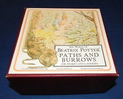 Paths and Burrows board game (snakes and ladders) Beatrix Potter 100% complete
