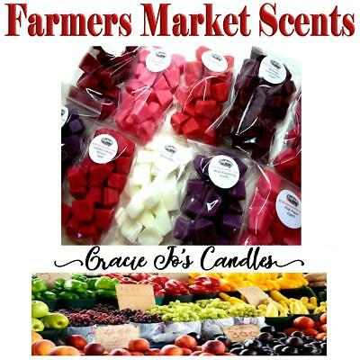 FARMERS MARKET SCENTS 40 pc Candle Wax Tart Melts 8 oz Mini Chunks Chips Home
