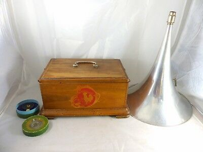 Ancien Phonographe Pathe Gramophone A Cylindre 1900