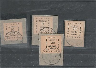 Lot   Lithuania, 4 stamps cutaus V .F.
