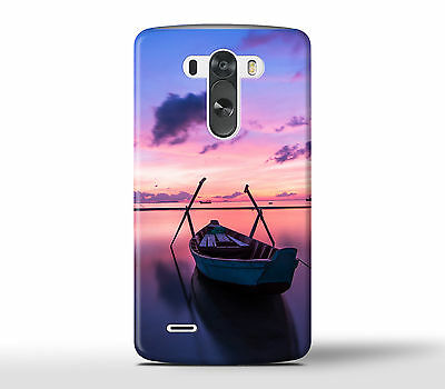 Boat In The Ocean Fisherman Sea Sunset - Hard Phone Case Cover Fits LG G Models