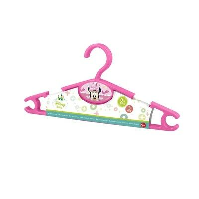 Pack 3 perchas Minnie Mouse - Colores - Rosa