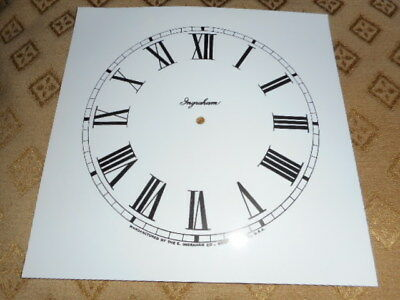 Ingrahams Mantle/Shelf Paper Clock Dial-143mm M/T-Roman-GLOSS-Face/Parts/Spares