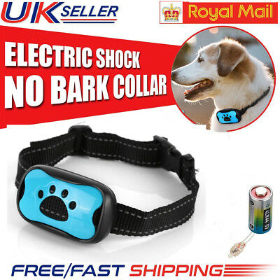 UK Small Medium Large Dog Anti Bark Collar Puppy Stop Barking Sound & Vibration