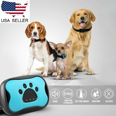 USA Automatic Anti Bark No Barking Tone Shock Dog Puppy Training Collar E-collar