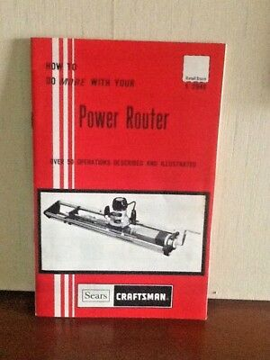 Sears Craftsman Handbook~How To Do More With Your Power Router 1975