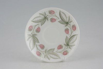 Susie Cooper - Wild Strawberry - Plain Edge - Coffee Saucer - 88759Y
