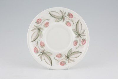 Susie Cooper - Wild Strawberry - Plain Edge - Soup Cup Saucer - 203018G