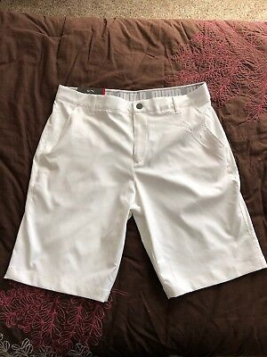 "Puma Mens Essential Pounce 2017 Golf Shorts Bright White Size 34"" Waist MSRP $65"