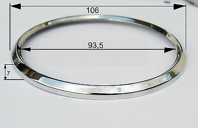 Chromring, 100mm, Messing  Tachoring für VDO, Motometer BMW ../5  u-a  NEU.