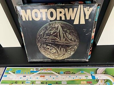 VINTAGE MOTORWAY FAMILY BOARD GAME 1980 - 100% COMPLETE - Good condition