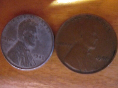 1943 and 1944 Lincoln Penny Set