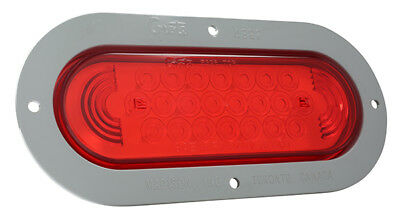 Grote STT LAMP,RED,SUPERNOVA LED W/GRAY FLANGE,THEFT RESISTANT (53592)