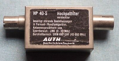 Auth Hochpassfilter HP 40-S