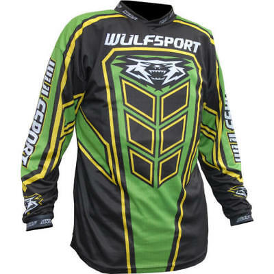 Wulfsport Adult MX Motocross Motorcycle AXIUM 2019 Race Shirt Jersey Green - T