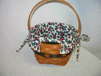 OTE HOLLY BERRY LINER ONLY for 1994 JINGLE BELL CHRISTMAS BASKET