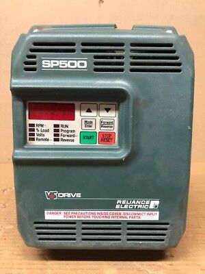Reliance Electric 1SU51005 5HP SP500 AC VS Drive 5 HP 575V 3PH 7.5A 7.5 Amp