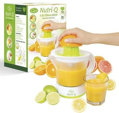 Nutri-Q Electric Quick Press Citrus Jug Fruit Juice Juicer - BPA Free - 40W 1.2L