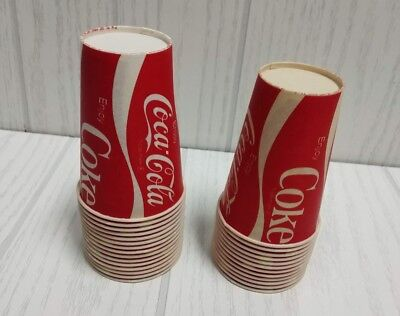vintage coca cola waxed paper cups 27 count 7oz
