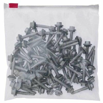 50 Pack of Clear Slider Locking Bags 16 x 16. Reclosable Poly Packing Bags 3...
