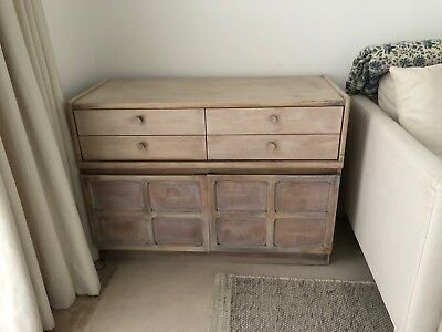 Vintage Retro mid century teak (bleached white) by Nathan 4 drawer sideboard