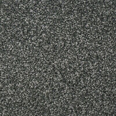STYLISH HARDWEARING Black Grey Felt Back Twist Pile 4m Wide Carpet £7.99Sqm