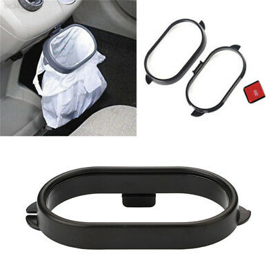 E3F6 Car Vehicle Auto Clip On Trash Bag Rack Litter Holder Frame Portable Black