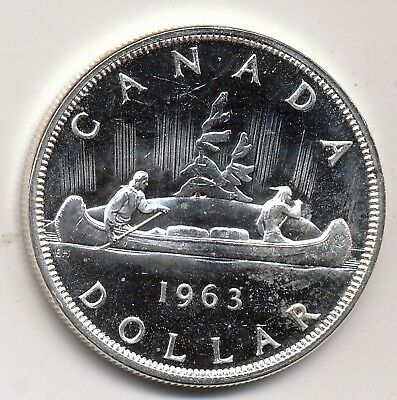1963 Canada Proof-Like [Spotted] Silver Dollar