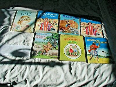 VINTAGE Lot of 7  Little Golden Books ,Religious, Great for Bible School